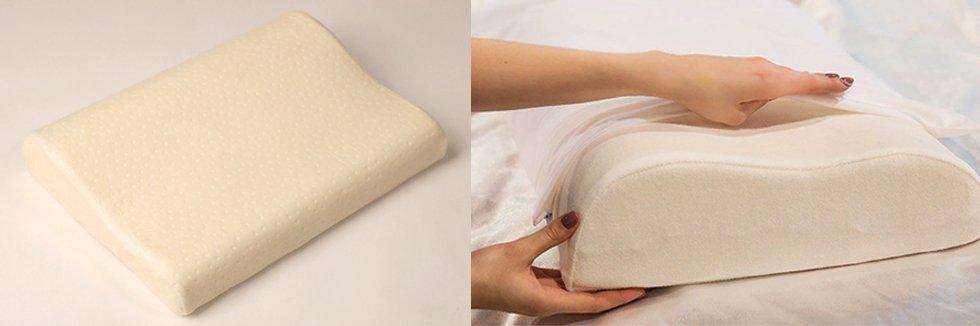 Ортопедическая подушка с эффектом памяти под голову