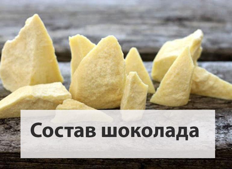 химический состав шоколада